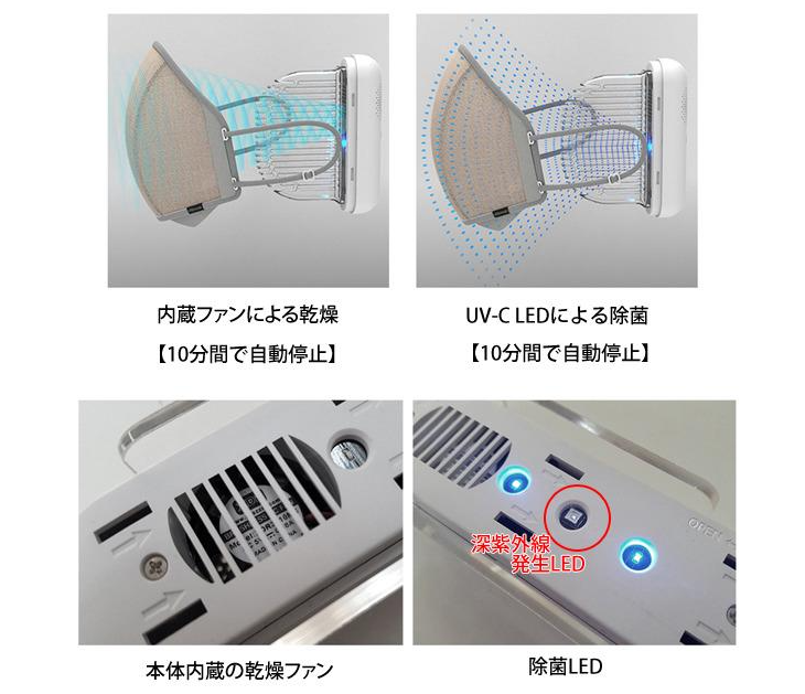 マスク除菌ケースの機能