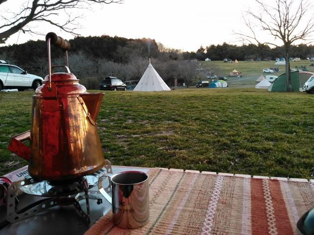 キャンプ 朝コーヒー